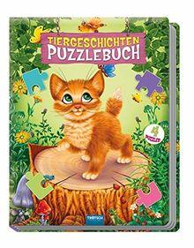 """Puzzlebuch """"Tiergeschichten"""": 4 Puzzles, 12-teilig mit Farbvorlagen"""
