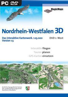 Nordrhein-Westfalen 3D 1.5: DVD 1, West (DVD-ROM