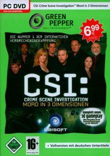 CSI: Crime Scene Investigation - Mord in 3 Dimensionen [Green Pepper]