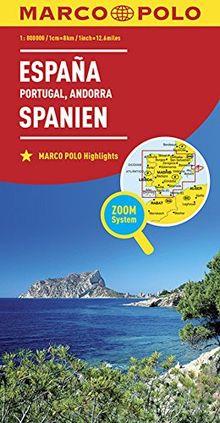 MARCO POLO Länderkarte Spanien, Portugal 1:800 000 (MARCO POLO Länderkarten)