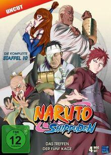 Naruto Shippuden - Staffel 10: Das Treffen der fünf Kage, Episoden 417-442 (Uncut) [4 DVDs]