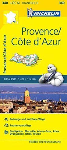 Michelin Provence - Cote d'Azur: Straßen- und Tourismuskarte 1:150.000 (MICHELIN Localkarten)