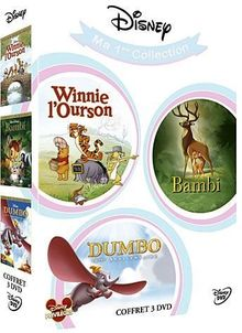 Coffret ma 1ère collection; winnie l'ourson ; bambi ; dumbo
