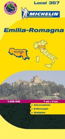 Emilia Romagna: Ortsverzeichnis, Entfernungstabelle, Stadtpläne (Michelin Localkarte)