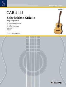 Sehr leichte Stücke: für den Anfangsunterricht. op. 333/1. Gitarre. (Edition Schott)