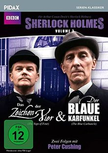 Sherlock Holmes, Vol. 3 (Sir Arthur Conan Doyle's Sherlock Holmes) / 2 weitere Folgen: DAS ZEICHEN DER VIER + DER BLAUE KARFUNKEL (Pidax Serien-Klassiker)
