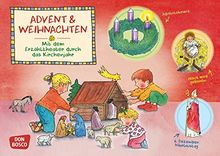 Advent und Weihnachten. Kamishibai Bildkartenset.: Mit dem Erzähltheater durch das Kirchenjahr