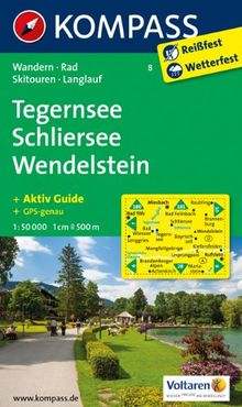 Tegernsee - Schliersee - Wendelstein: Wanderkarte mit Aktiv Guide, Radwegen, Skitouren und Loipen. GPS-genau. 1:50000