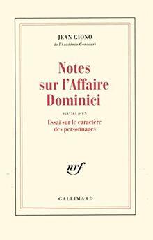 Notes sur l'affaire Dominici (Blanche)