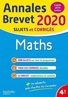Maths : Sujets et corrigés