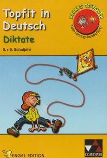 Topfit in Deutsch. Diktate 5. + 6. Schuljahr: 40 Tests mit insgesamt 120 Übungsaufgaben. Ponkys Testblock