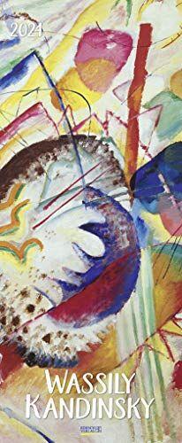 Wassily Kandinsky 2021: Kunstkalender mit Werken des Künstlers Wassily Kandinsky. Wandkalender im Hochformat: 28,5 x 69 cm.
