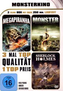 MONSTERKINO - Megapiranha - Monster - Sherlock Holmes (3 Filme Box)