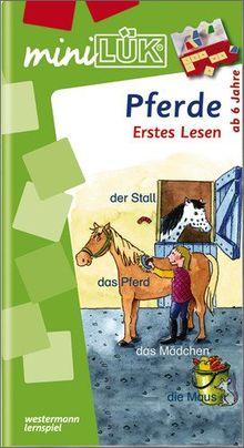 miniLÜK: Pferde Erstes Lesen: Elementares Lernen für Kinder ab 6 Jahren