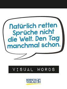 Visual Words 2021: TypoArt Tages-Abreisskalender