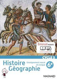 Histoire géographie, enseignement morale et civique 6e cycle 3