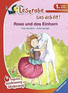 Rosa und das Einhorn: Tägliches Lesetraining mit Stickerspaß (Leserabe - Lies dich fit)