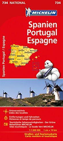 Michelin Spanien / Portugal: Straßen- und Tourismuskarte (Michelin Nationalkarte)