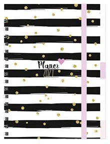 Planer Glamour 2021: Familientimer-Buch mit 5 Spalten, Ferienterminen und Jahresübersicht 2022
