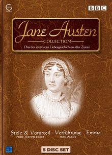 """""""Jane Austen Collection"""" (Stolz und Vorurteil, Emma + Langfassung, Verführung, 5 DVDs)"""