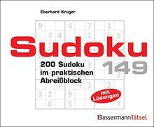 Sudoku Block 149: 200 Sudoku im praktischen Abreißblock