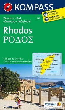 Rhodos 1 : 50 000: Wanderkarte mit Radrouten