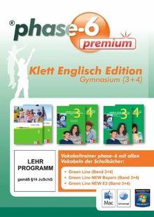 phase-6 Klett Englisch Edition, Gymnasium 3+4: Vokabeltrainer phase-6 mit allen Vokabeln der Schulbücher