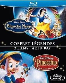 Blanche neige et les sept nains ; pinocchio [Blu-ray]