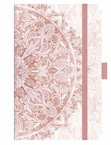 """Premium Timer Small """"Rosé Mandala"""" 2020: Buchkalender - Terminplaner mit hochwertiger Folienveredelung und Prägung. 9 x 14 cm"""