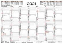 Tafelkalender A3 2021: 14 Monate auf Vorder- und Rückseite I Ferientermine und Feiertage