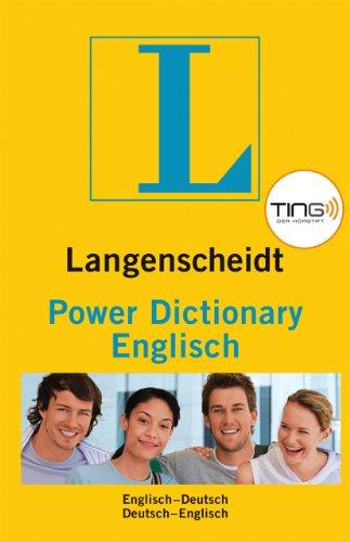 Langenscheidt power dictionary englisch ting englisch for Dictionary englisch deutsch