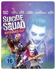 Suicide Squad inkl. Extended Cut Illustrated Artwork - Steelbook (exklusiv bei Amazon.de) [Blu-ray] [Limited Edition]