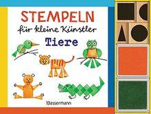 Stempeln für kleine Künstler - Tiere-Set: Mit 4 Holzstempeln und 2 Stempelkissen