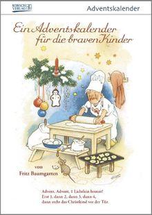"""""""Für die braven Kinder"""" nostalgischer Adventskalender mit 24 Blättern zum Abreißen"""