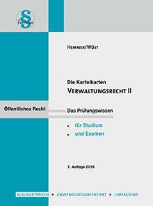 Karteikarten Verwaltungsrecht 2 (Karteikarten - Öffentliches Recht)