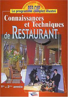 Connaissances et techniques de restaurant : 1ère et 2ème année