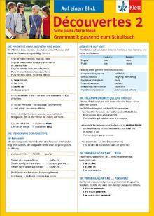 Découvertes Série jaune / Série bleue 2: Grammatik passend zum Schulbuch