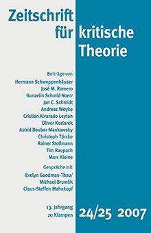 Zeitschrift für kritische Theorie: HEFT 24/25
