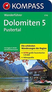 Dolomiten 5, Pustertal: Wanderführer mit Tourenkarten und Höhenprofilen (KOMPASS-Wanderführer)