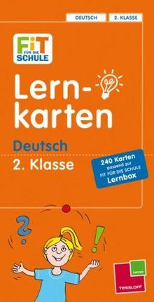 Lernkarten Deutsch 2. Klasse: 240 Karten passend zur Fit Für Die Schule