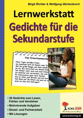 Lernwerkstatt Gedichte Für Die Sekundarstufe