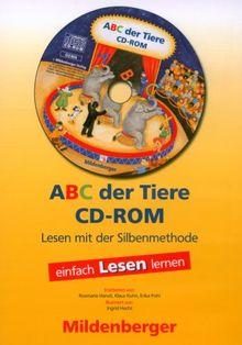 ABC der Tiere. Leseheft Lesen in Silben, Druckschrift, 1 CD-ROM Einzellizenz