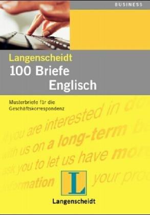 Langenscheidts Musterbriefe 100 Briefe Englisch Für Export Und