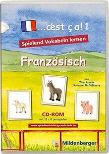 """... c'est ca!. Lernspiele für den Französischunterricht / """"... c'est ça 1"""" – Lernsoftware, Netzwerklizenz: Software zum Erlernen des französischen Wortschatzes"""