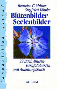 Blütenbilder Seelenbilder: 39 Bach-Blüten-Farbfotokarten mit Anleitungsbuch