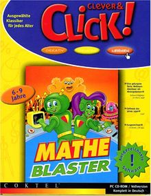Mathe Blaster. 6 - 9 Jahre. CD- ROM für Windows 3.1/95. 6 Schwierigkeitsstufen und 9 verschiedene Lerninhalte