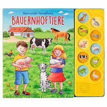 Bauernhoftiere - Interaktives Pappbilderbuch mit 10 lustigen Geräuschen für Kinder ab 3 Jahren