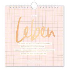 "Postkartenkalender 2021 ""Leben"""