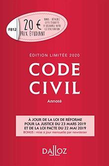 Code civil annoté : Edition limitée