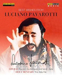 """Best Wishes From Luciano Pavarotti (Aida, La Bohème und """"The Aida File"""") [3 DVDs]"""